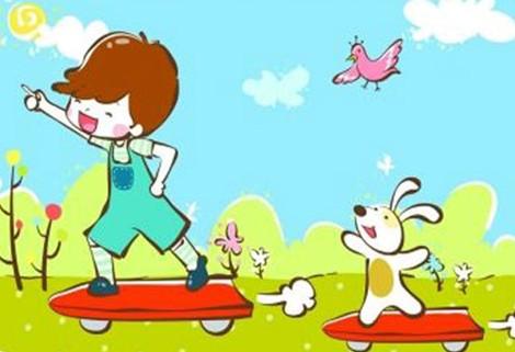 儿童运动画报手绘